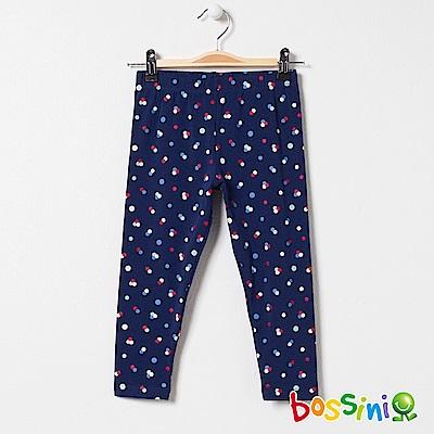 bossini女童-印花針織貼身褲02海軍藍
