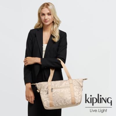Kipling 奶油鬆餅色手提側背包-ART