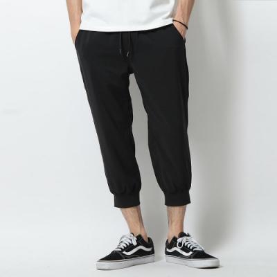 束口褲亞麻風慢跑七分褲(3色) ZIP日本男裝