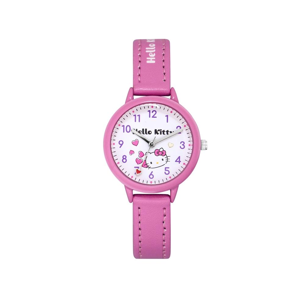 HELLO KITTY 凱蒂貓 粉嫩簡約造型手錶-白×桃紅/32mm @ Y!購物