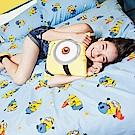 戀家小舖 / 單人床包被套組  小小兵全速前進  高密度磨毛布  台灣製