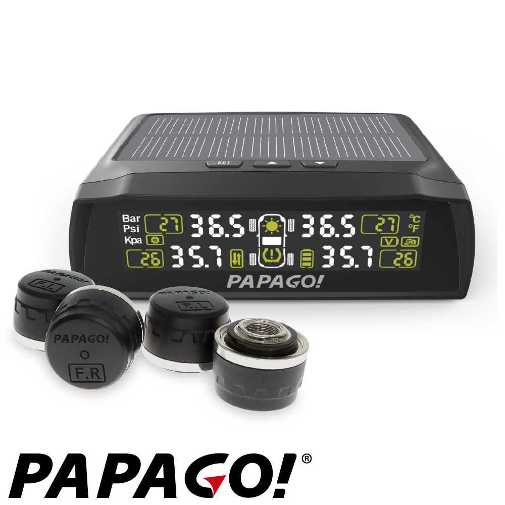 PAPAGO ! TireSafe S72E無線太陽能胎外式輕巧胎壓偵測器  (兩年保-快