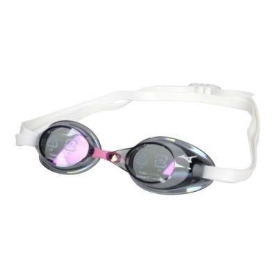 MIZUNO SWIM 泳鏡-防霧 抗UV 游泳 日製 蛙鏡 訓練 美津濃 85YA-75100-07 紫粉白