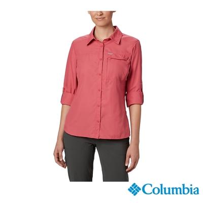 Columbia 哥倫比亞 女款- Omni-Shade防曬50快排長袖襯衫- 緋紅 UAR26570CL