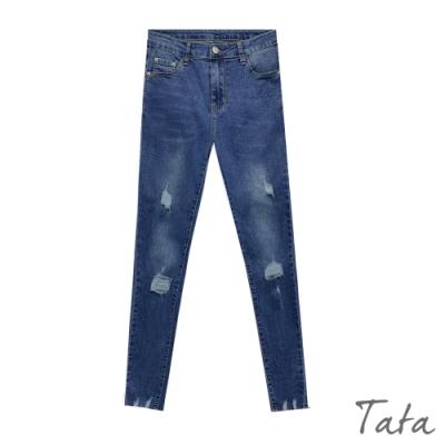 彈力激瘦破壞牛仔褲 TATA-(M~XL)