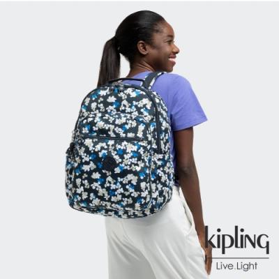 Kipling 清新手繪碎花機能手提後背包-SEOUL