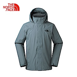 The North Face北面男款深灰色防水透氣風衣
