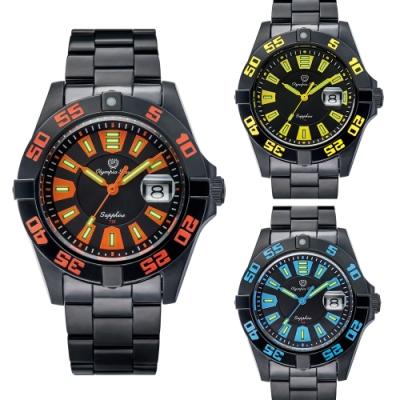 Olympia Star 奧林比亞之星炫彩氚氣石英腕錶(多色可選) 98019TGB