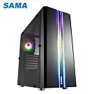 SAMA 先馬 SABD02 (B) 煥彩戰士 (黑) PRO 透側 ARGB 電腦機殼