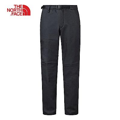 The North Face北面男款黑色保暖抓絨長褲|3L7FJK3