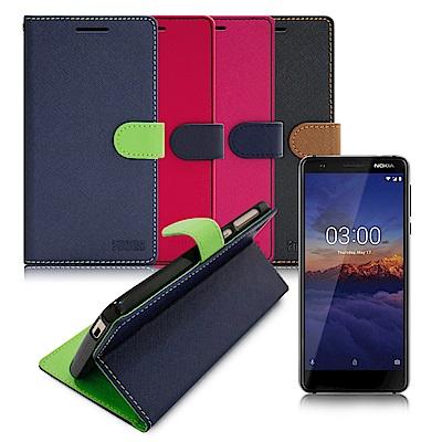 FOCUS for Nokia 3.1 5.2吋 糖果繽紛支架皮套