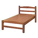 綠活居 麥戈時尚3.5尺實木單人床台(不含床墊)-111.2x201.5x95.4cm免組