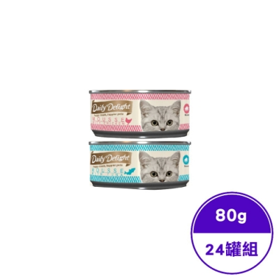 Daily Delight爵士貓吧-美味肉泥罐系列- 80G(24罐組)