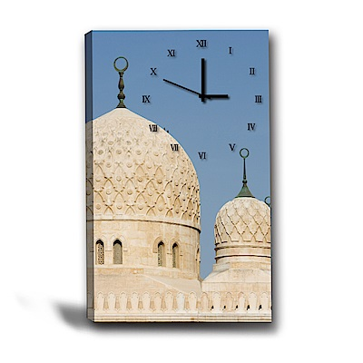 美學365-單聯式直幅 掛鐘無框畫-巴洛克-40x60cm