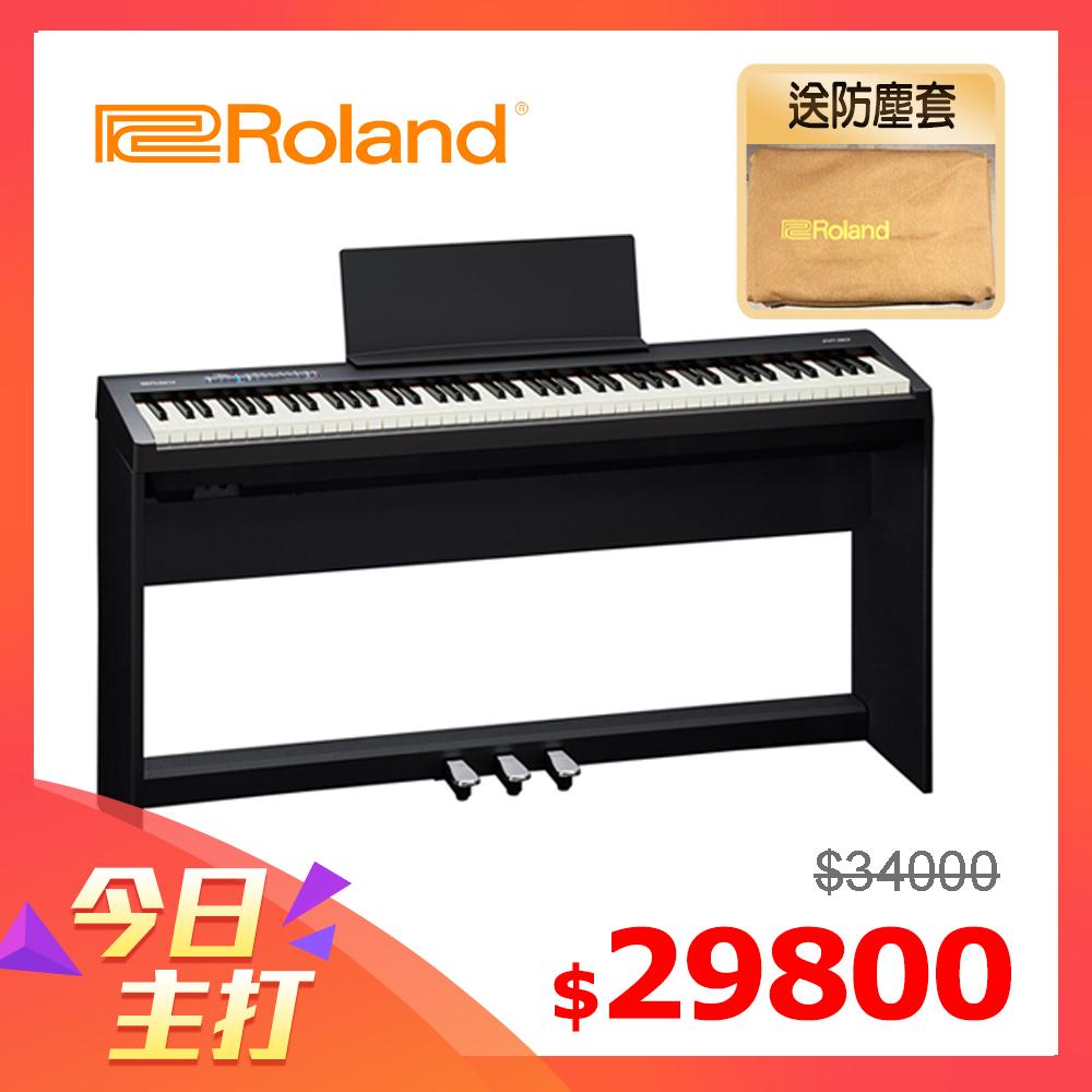 [無卡分期-12期] ROLAND FP-30 數位電鋼琴 時尚黑色款