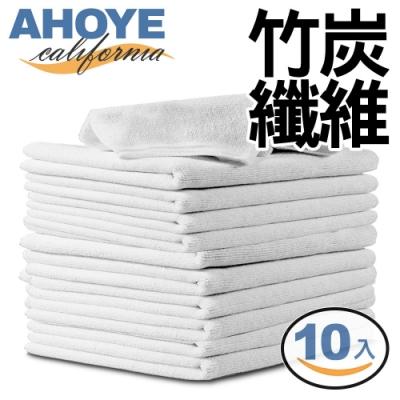 Ahoye 竹纖維吸水抹布 25*25cm 10入組(白色)