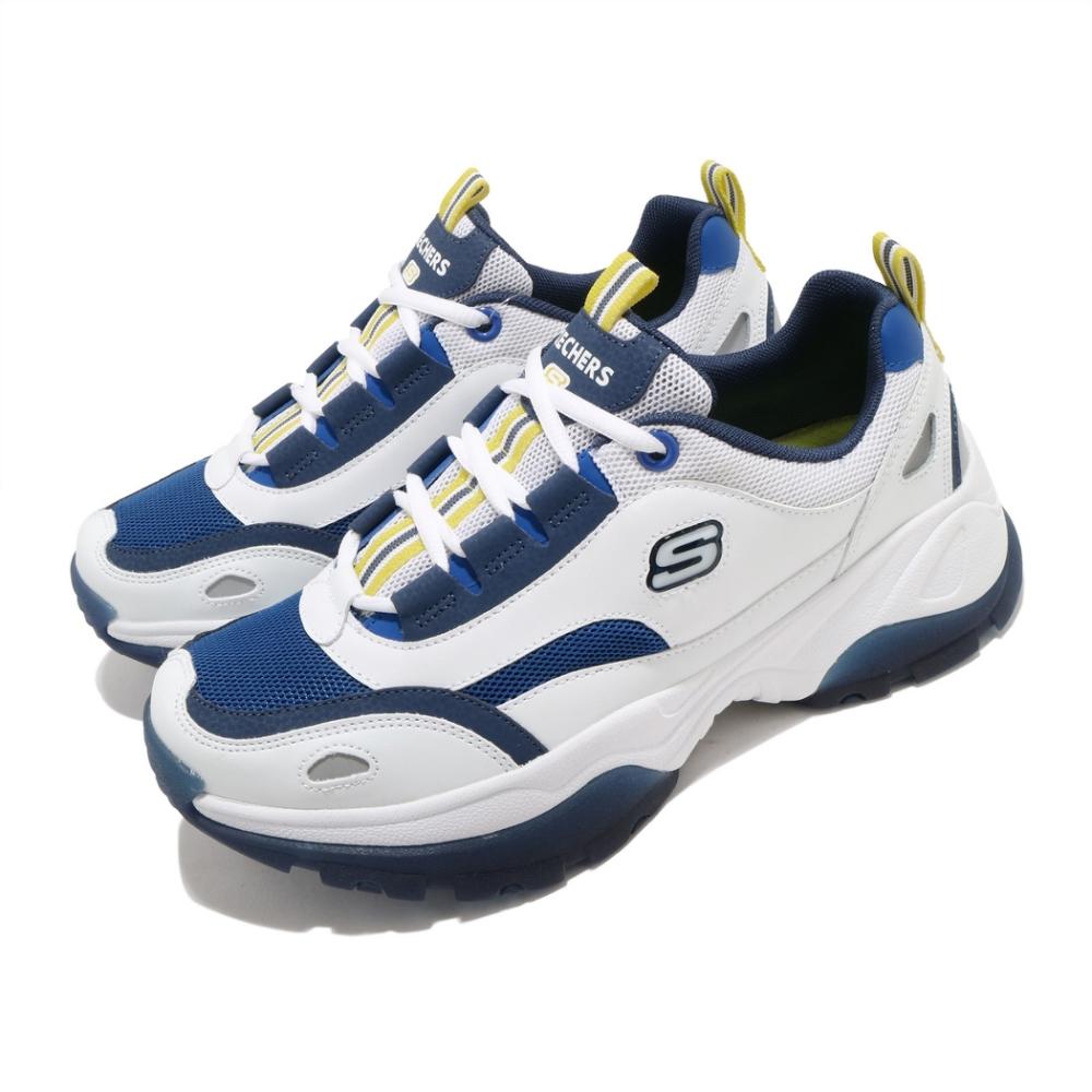 Skechers 休閒鞋 Kozmiks 1 復古 男鞋 防滑 耐磨 避震 異材質拼接 穿搭 白 藍 888015WBLY