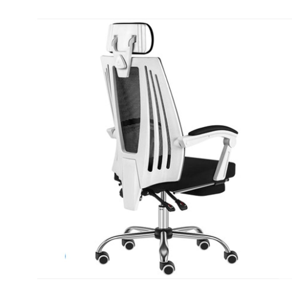 【STYLE 格調】伊恩高背弧形結構椅背工學電腦椅/辦公椅(置腳台/ 金屬椅腳)