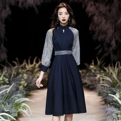 【KEITH-WILL】(預購)高冷個性織蔥高磅洋裝(共1色)