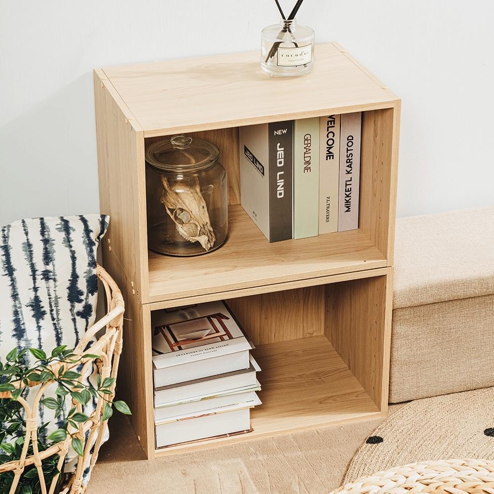 樂嫚妮 DIY 日式 收納櫃/空櫃/書櫃-楓木色2入組-42X28.2X28.8cm