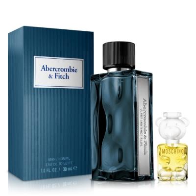 Abercrombie & Fitch 湛藍男性淡香水30ml+Moschino女小香