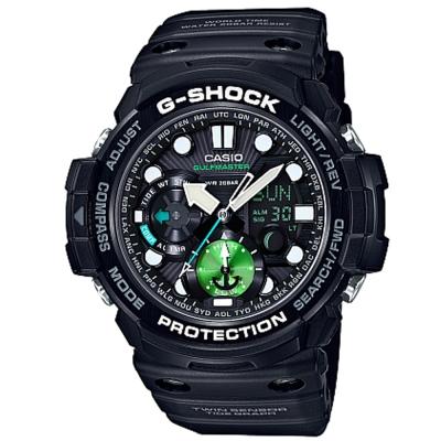 G-SHOCK 強悍機能雙重感應綠能意識月齡潮汐(GN-1000MB-1A)-53mm