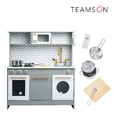 Teamson 柏林童話木製廚房玩具(經典灰)