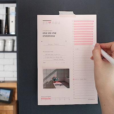 Dash and Dot-30天記錄便條紙-實踐記錄表
