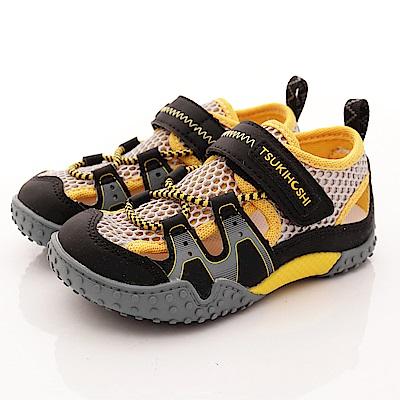 日本月星頂級童鞋 2E護趾輕量涼鞋款 19AB6黑(中小童段)