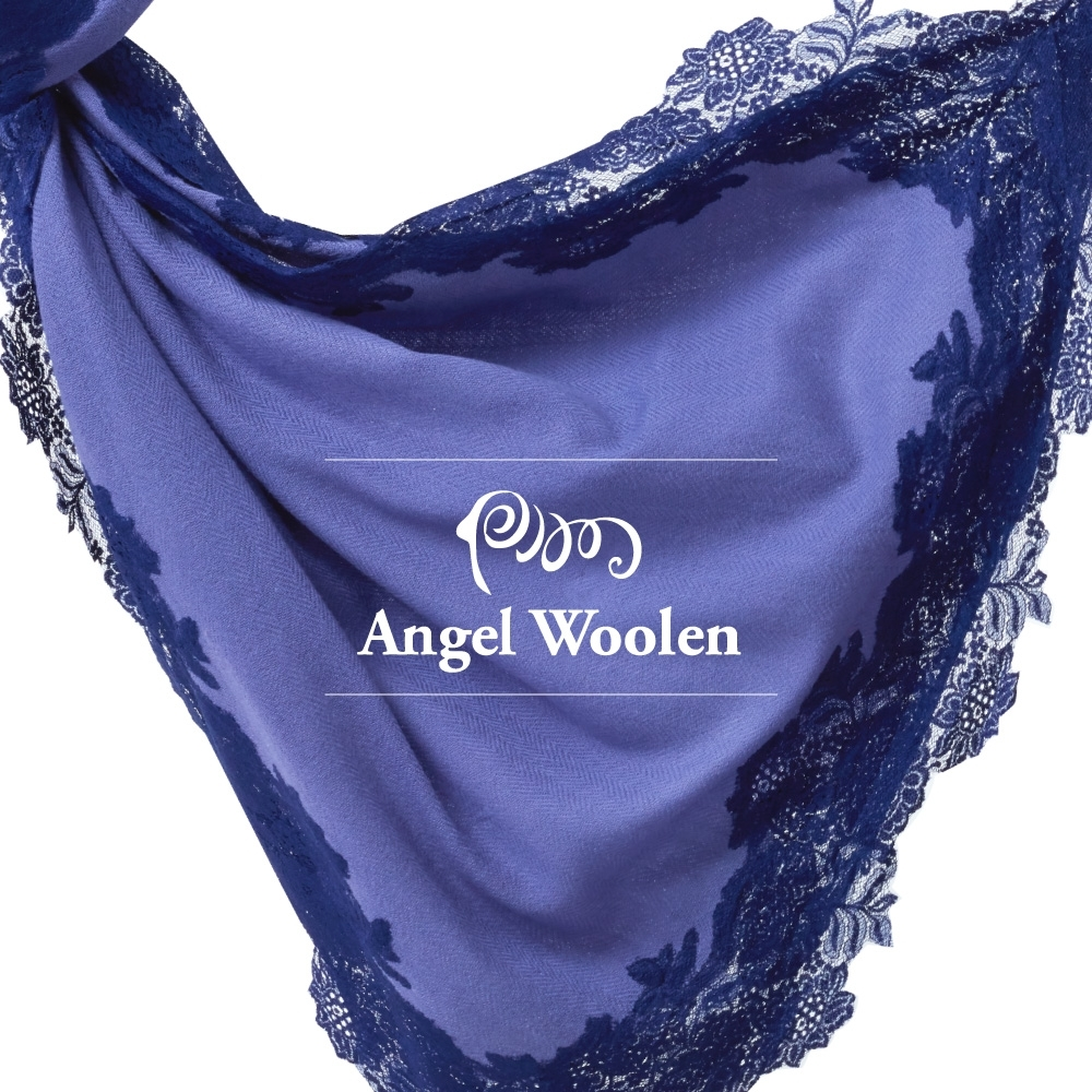 【ANGEL WOOLEN】頂級四面蕾絲CASHMERE印度手工披肩(共四色)
