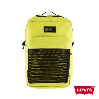 Levis 男女同款 L1機能後背包 螢光黃 都會電腦包