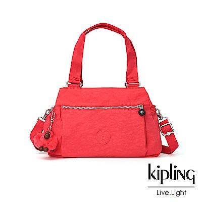 Kipling 亮橘色素面梯形手提側背包-ORELIE