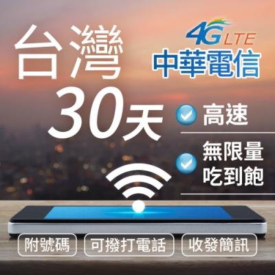 [高速台灣網卡] 台灣網卡 台灣上網卡 附號碼 可通話 可收發簡訊 30天吃到飽