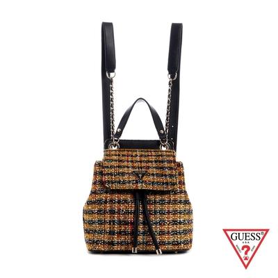 GUESS-女包-時尚毛呢編織後背包-棕 原價3290
