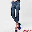 BOBSON 女款高腰七分牛仔褲