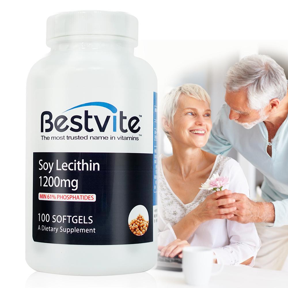 美國BestVite 必賜力高濃縮卵磷脂膠囊1瓶 (100顆)