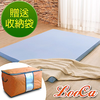 (贈收納袋)LooCa 空調睡眠8cm減壓記憶床墊-單大3.5尺(搭贈3M吸濕排汗布套)