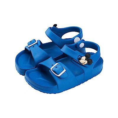 迪士尼童鞋 米奇 魔鬼氈防水休閒涼鞋-藍