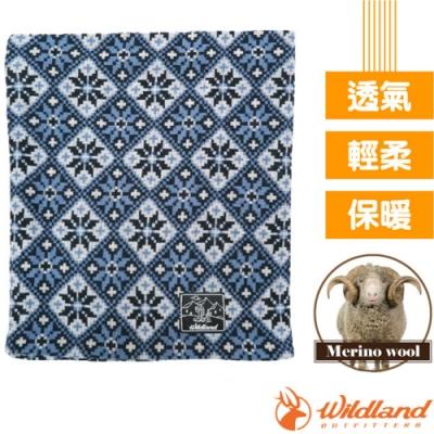 荒野 WildLand 新款 X-Buff Merino 雙層美麗諾羊毛5功能保暖魔術頭巾(圍脖.圍巾.頸套.口罩.帽子)_深藍色