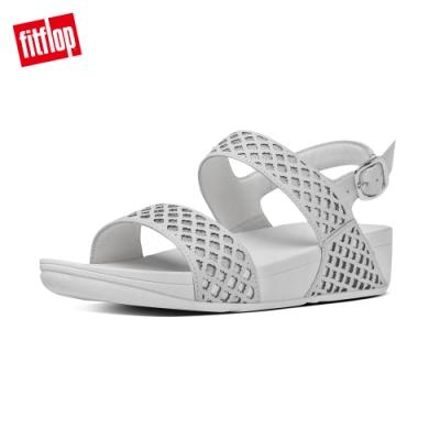 FitFlop SAFI BACK-STRAP SANDAL雷射切割後帶涼鞋 白/銀色