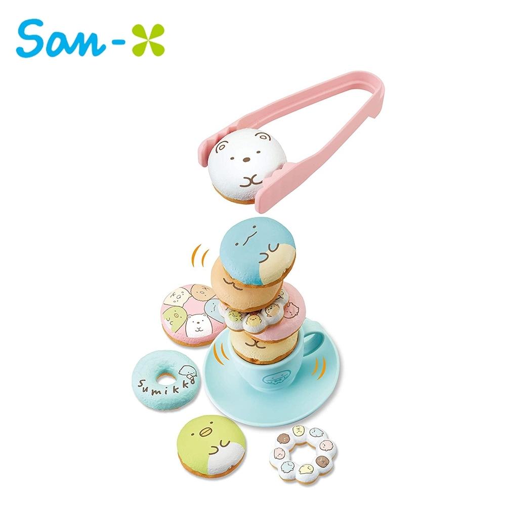 日本正版 角落生物 甜甜圈 疊疊樂 玩具 平衡遊戲 桌遊 益智遊戲 角落小夥伴 073389