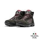 TRAVEL FOX(男) 山之語登山越野防水禦寒防震專業戶外登山鞋- 灰粉