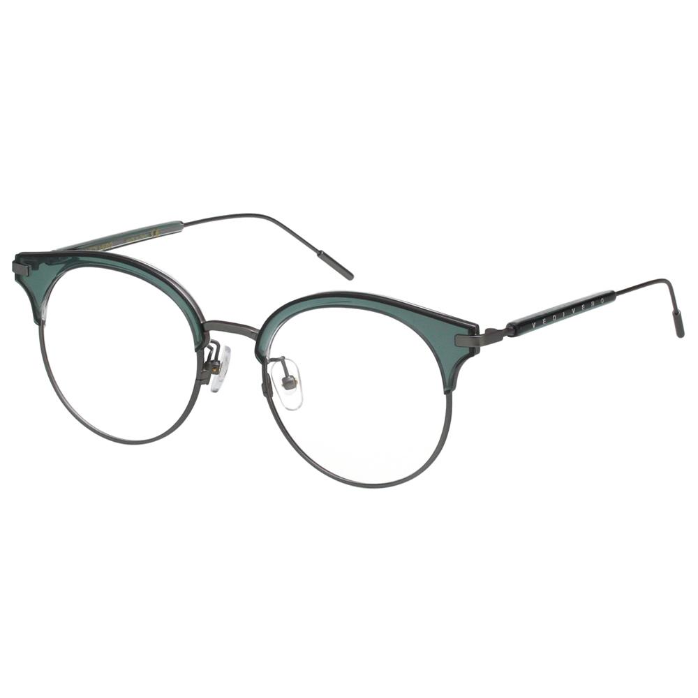 VEDI VERO 小復古眉框 光學眼鏡 (透明綠)