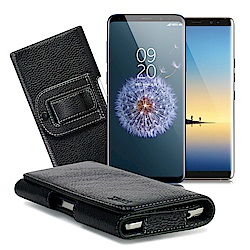 Xmart  三星Note 8 / S9+ /A6+ / A8+ 麗緻真皮腰掛皮套