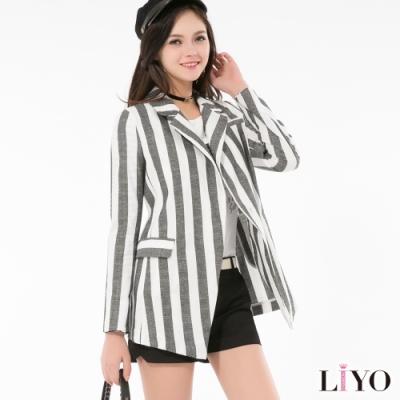 LIYO理優條紋西裝外套518001