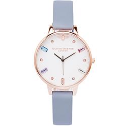 OLIVIA BURTON 施華洛世奇水晶款的手錶(OB16RB12)-白面/34mm