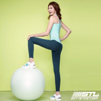 STL Yoga Pure Leggings 9 韓國瑜珈『超高腰』運動機能 快速排汗 專業訓練長 緊身/壓力褲 純粹魔法午夜藍 Magic Light Quick Dry
