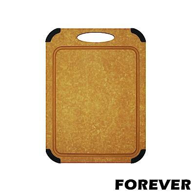 FOREVER 日本FOREVER松木木質砧板 / 防滑防霉集水溝槽設計-中