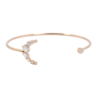 SWAROVSKI 施華洛世奇 Penélope Cruz璀璨水晶星月玫瑰金手環手鍊