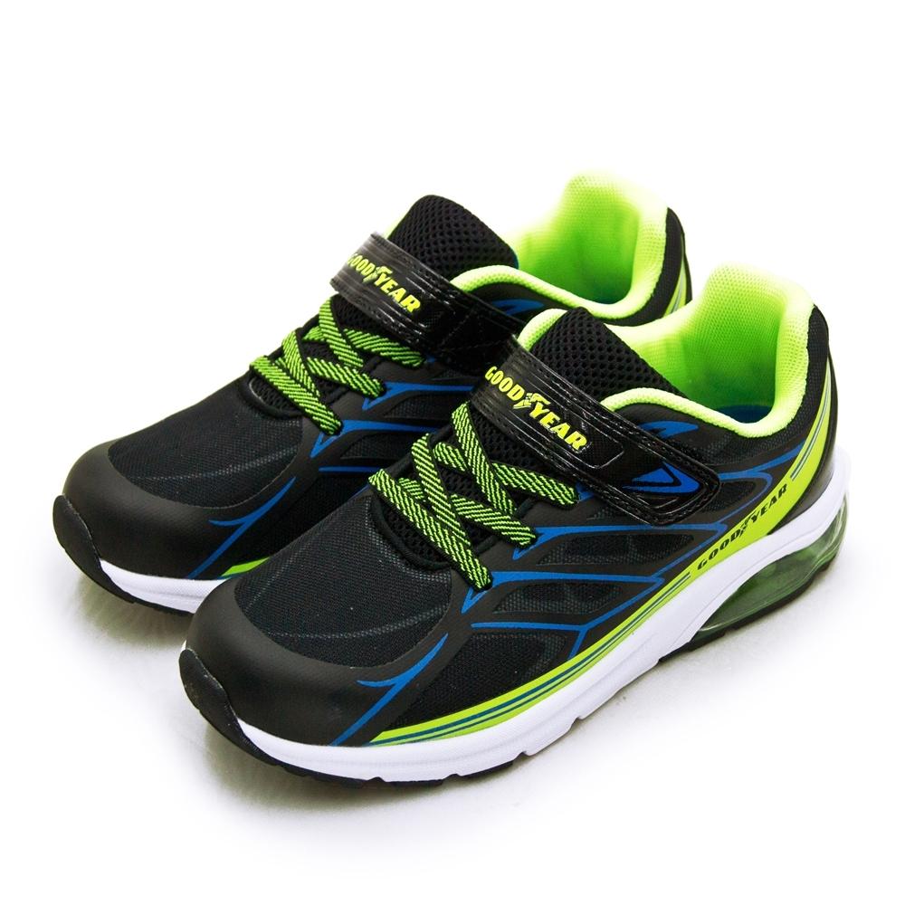 GOODYEAR 固特異 輕量緩震氣墊慢跑鞋 天使之翼系列 黑綠藍 98726